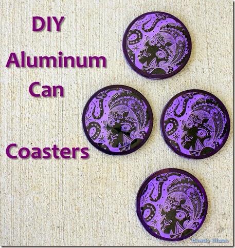 diy aluminum can coasters