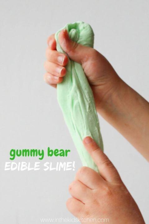 gummy bear edible slime - inthekidskitchen