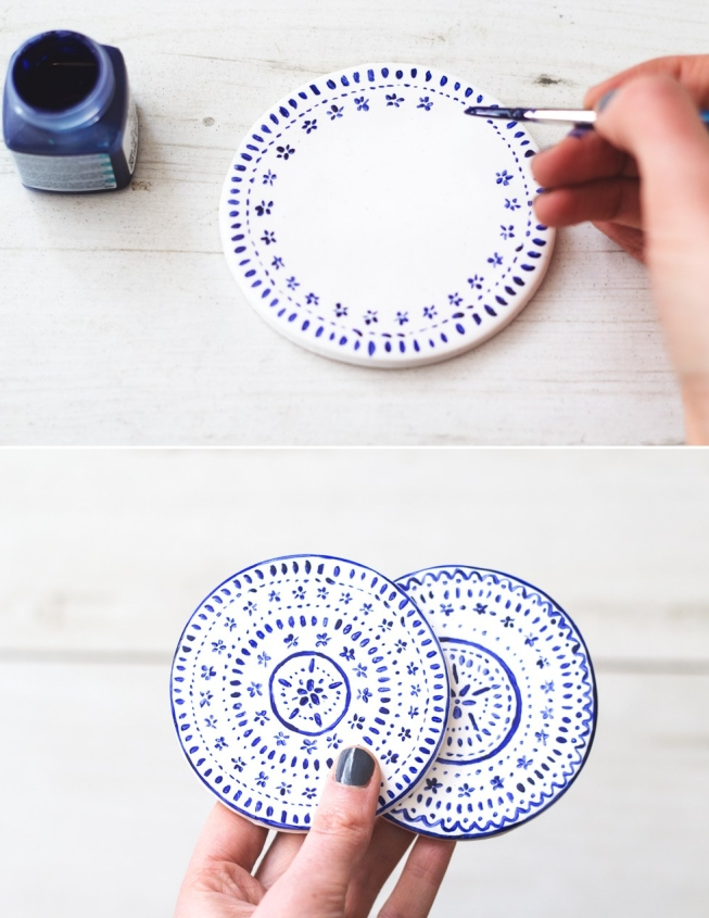 diy hand painted coasters