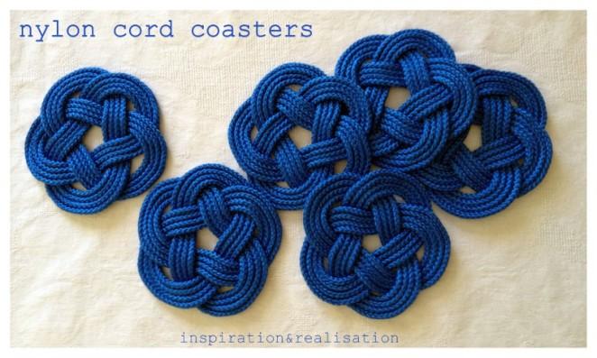 diy nylon cord coasters