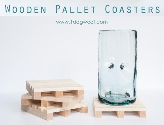 diy wooden pallet coasters