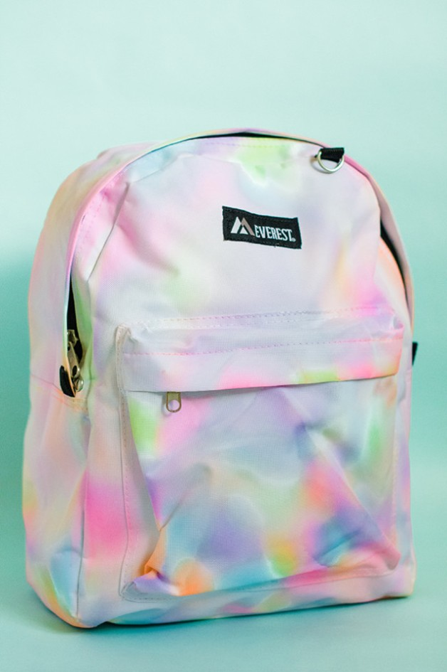 rainbow watercolor backpack - momtastic
