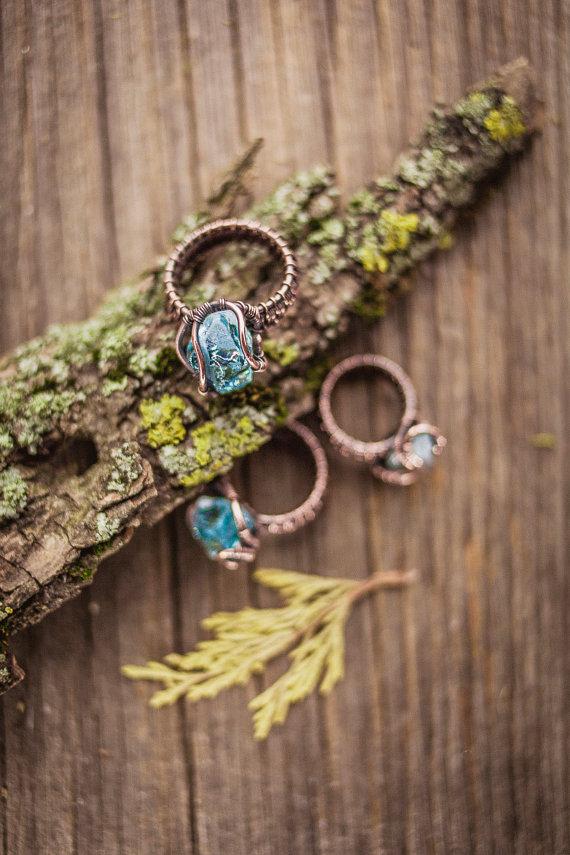 raw crystal quartz copper rings.jpg
